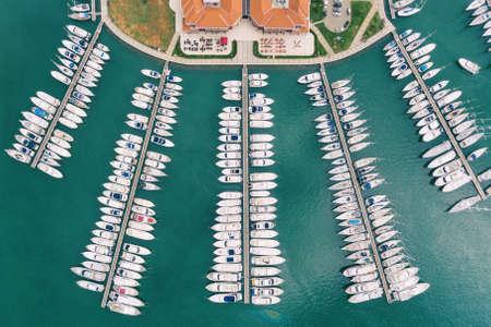Yachts in Novigrad marina in Croatia Archivio Fotografico