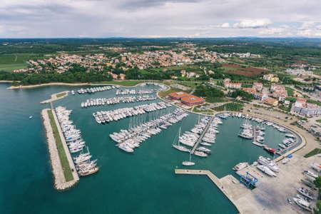 Yachts in Novigrad marina in Croatia