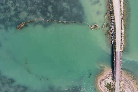 Adriatic sea Mirna river Antenal Tar Croatia Aerial Drone Photo