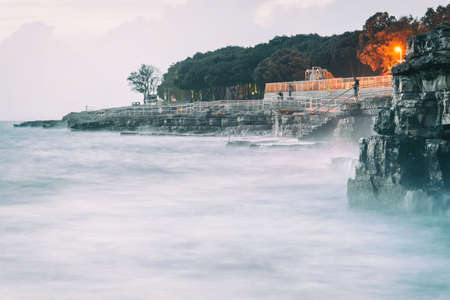 Holiday on adriatic sea in Lanterna Porec Istarska Croatia Archivio Fotografico