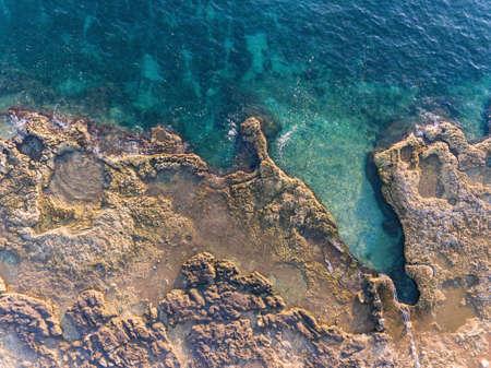 Holiday on adriatic sea in Lanterna Porec Istarska Croatia Aerial drone photo