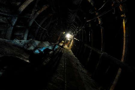Underground training Coal Mine in Dabrowa Gornicza, Poland Stock Photo