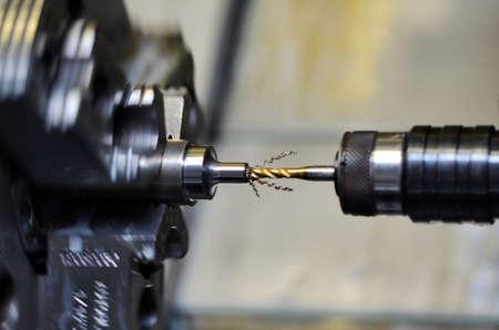Cnc machine, turning milling tap process