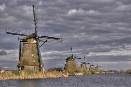 Windmills in Kinderdijk Holland, Netherlands