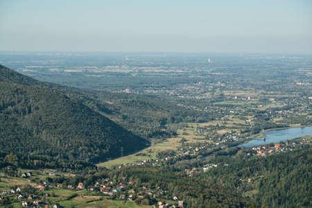 Å»ar hill silesia beskid hills in Zywiec Poland