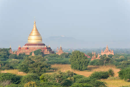 Pagodas stupas and temples of Bagan in Myanmar, Burma Asia