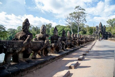 Entrance of Angkor Wat , one of seven wonder world in Siem Reap, Cambodia