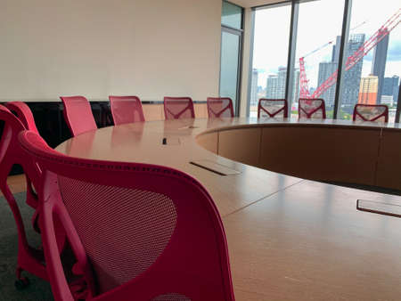 Bangkok, Thailand - June 2020 : Area of True digital park Co-Working Space on social distancing with luxury comfortable design for work as free and relax. Concept of creative cooperate work space. 免版税图像 - 157305807