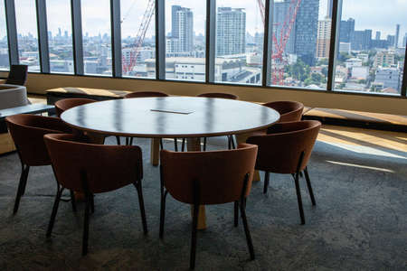 Bangkok, Thailand - June 2020 : Area of True digital park Co-Working Space on social distancing with luxury comfortable design for work as free and relax. Concept of creative cooperate work space. 免版税图像 - 157305792