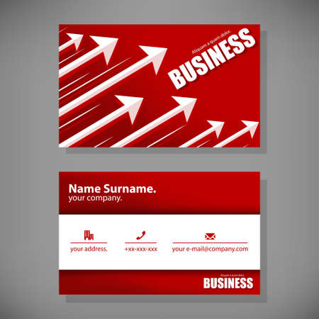 business card: Name Card business Template.