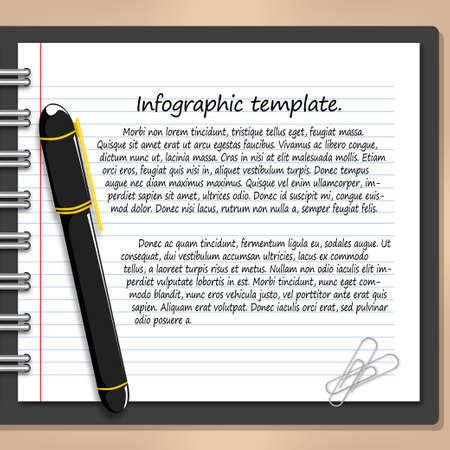 business template: pen and paper business Template.