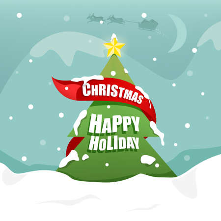 happy christmas: Merry Christmas and Happy Background. Illustration