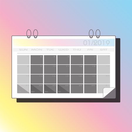 Icon Calendar 2019 for Web/mobile/printing icon Reklamní fotografie - 110704723