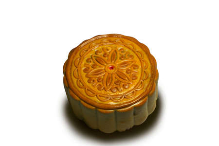 Moon cakes for the chinese isolated on white background