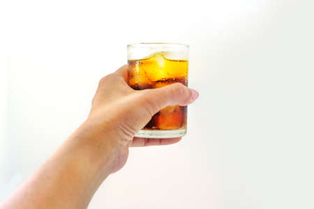 Alcohol glass handle with ice - Clipping path