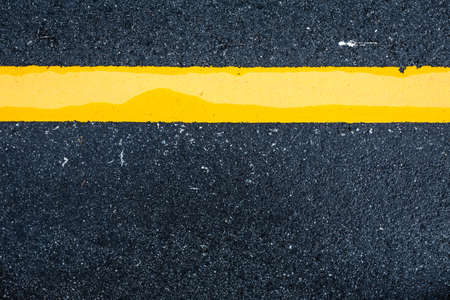 Asphalt road background with traffic line-close up Stock Photo