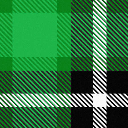 Plaid seamless abstract checkered pattern with green tone. Vector and Illustration.
