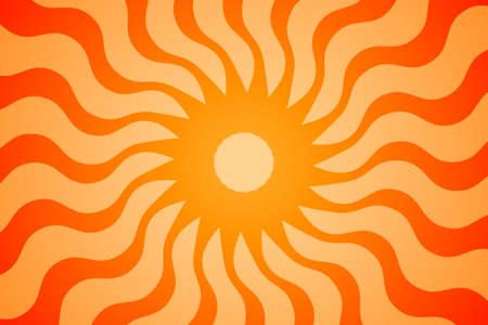 Retro Editable Sunburst. Swirling radial background. Vector and Illustration.