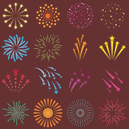 firework flat icons