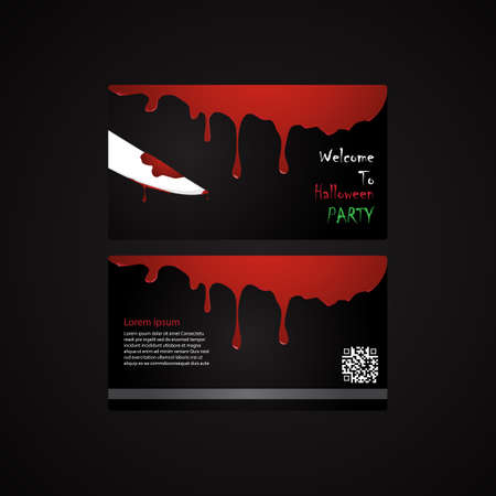 bewitchment: halloween invitation card