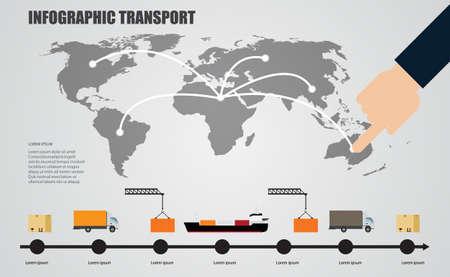 world infographics transport Vectores