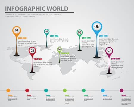infographic world 向量圖像