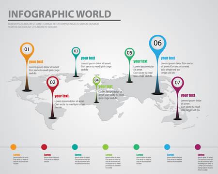 infographic world Vettoriali