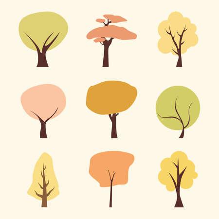 tree flat icons