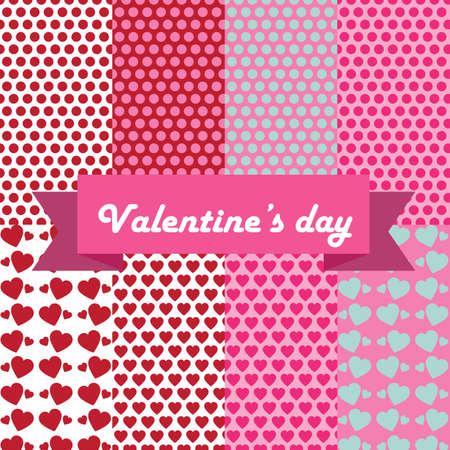 valentine love pattern Stock Photo
