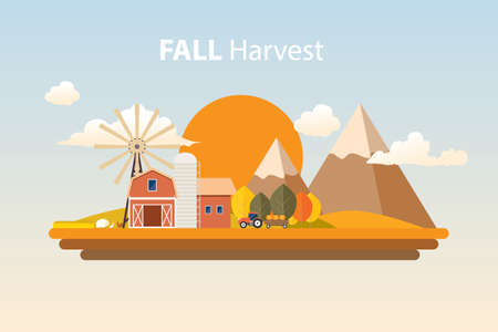 fall harvest farming background