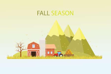 fall harvest farming background