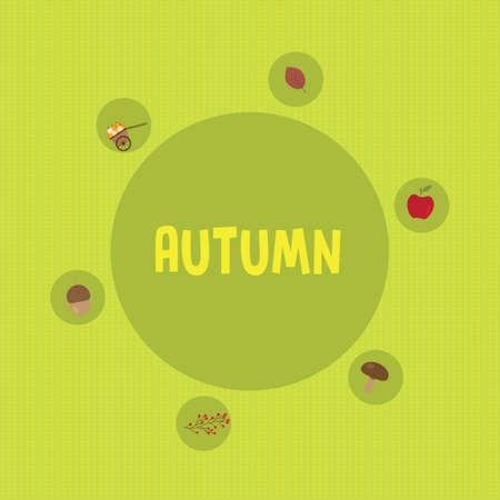 autumn flat background Stock Photo