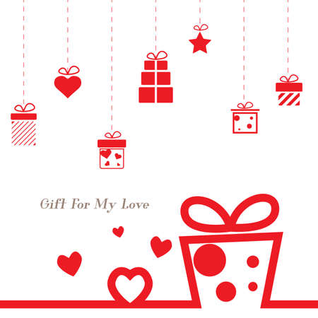 love valentine present,christmas present,giftbox background Stock Photo