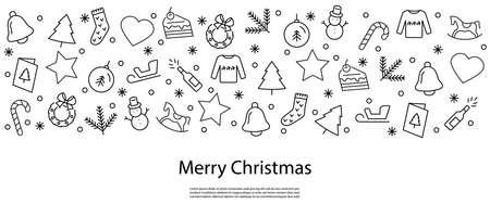 christmas background, christmas icons