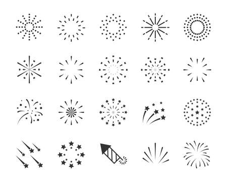 set of firework icons