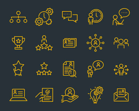 set of work icons, such as working, career, job, search, person, recruitment and more Illusztráció