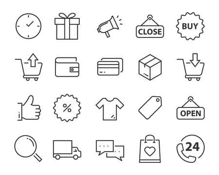 conjunto de iconos de envío, como entrega, transporte, correo, servicio