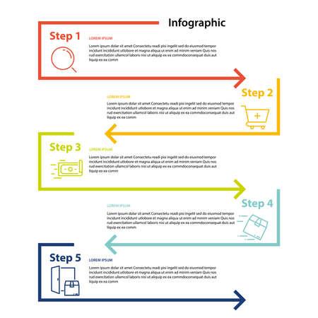 infographic element design 4 step, infochart planning