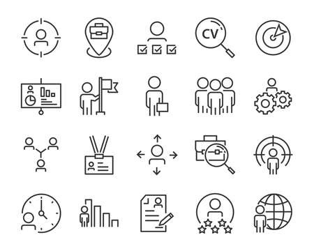set of job seach icons ,such as work, career, traning, business, skill, meeting Reklamní fotografie - 116527964