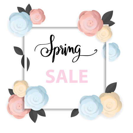 spring sale background, flower spring Stock Illustratie