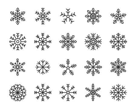snow flake icons set