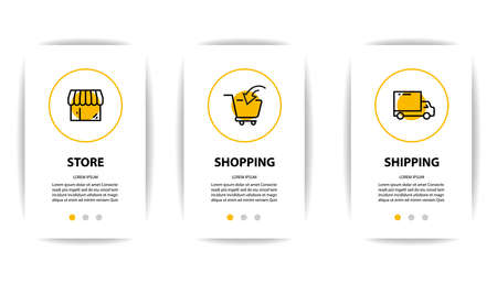 mobile application screen with business icon Stock Illustratie