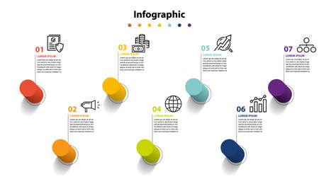infographic element design 7 step, infochart planning