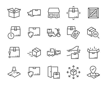 set of send icons, such as delivery, transport, mail, service Stockfoto - 123995306