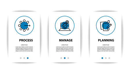 mobile application screen with business icon