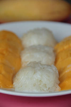 mongo: mongo with sticky rice thai dessert