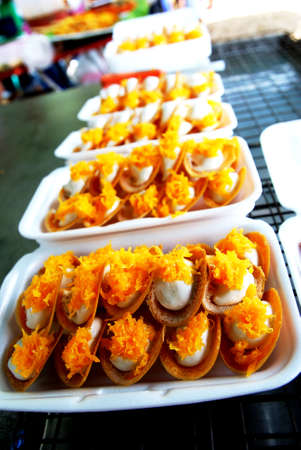 sweetmeat: kind of Thai sweetmeat.
