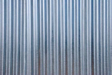 vertical corrugated iron background. photo