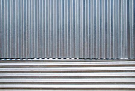 Horizontal and vertical corrugated iron background. photo