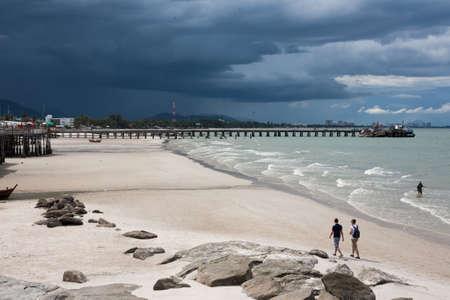 hua hin: Hua Hin Beach , Prachuabkirikhan, Thailand Editorial